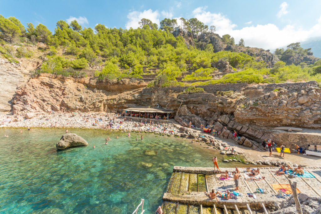 Cala Deia in the summer