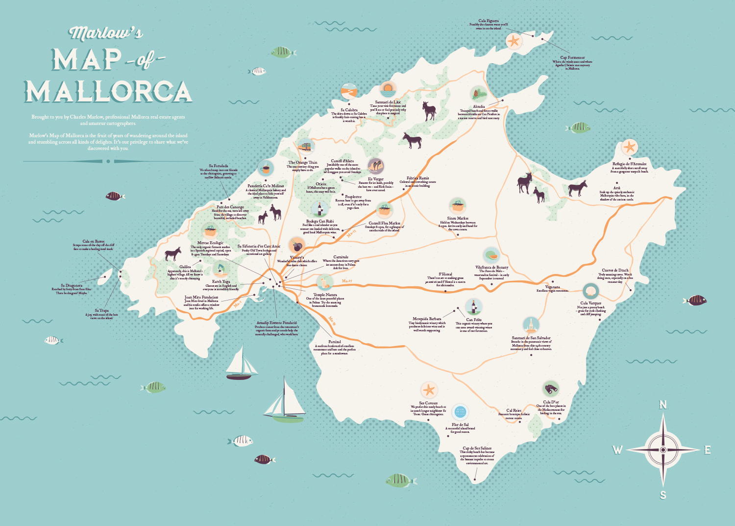 Marlow\'s Marvellous Map of Mallorca – the story - Charles Marlow