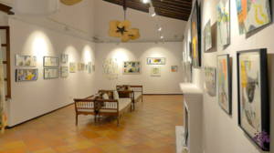 The gallery in Belmond La Residencia, Deia