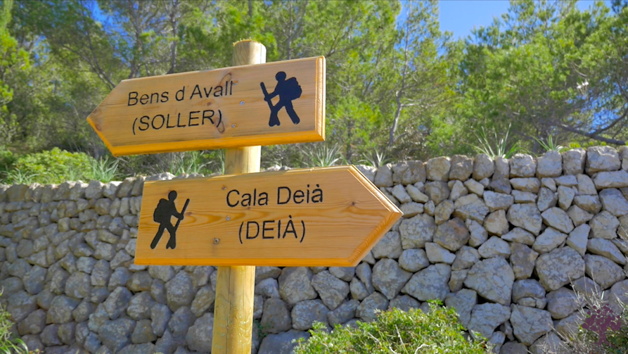 Walking and hiking routes around Deia in Mallorca