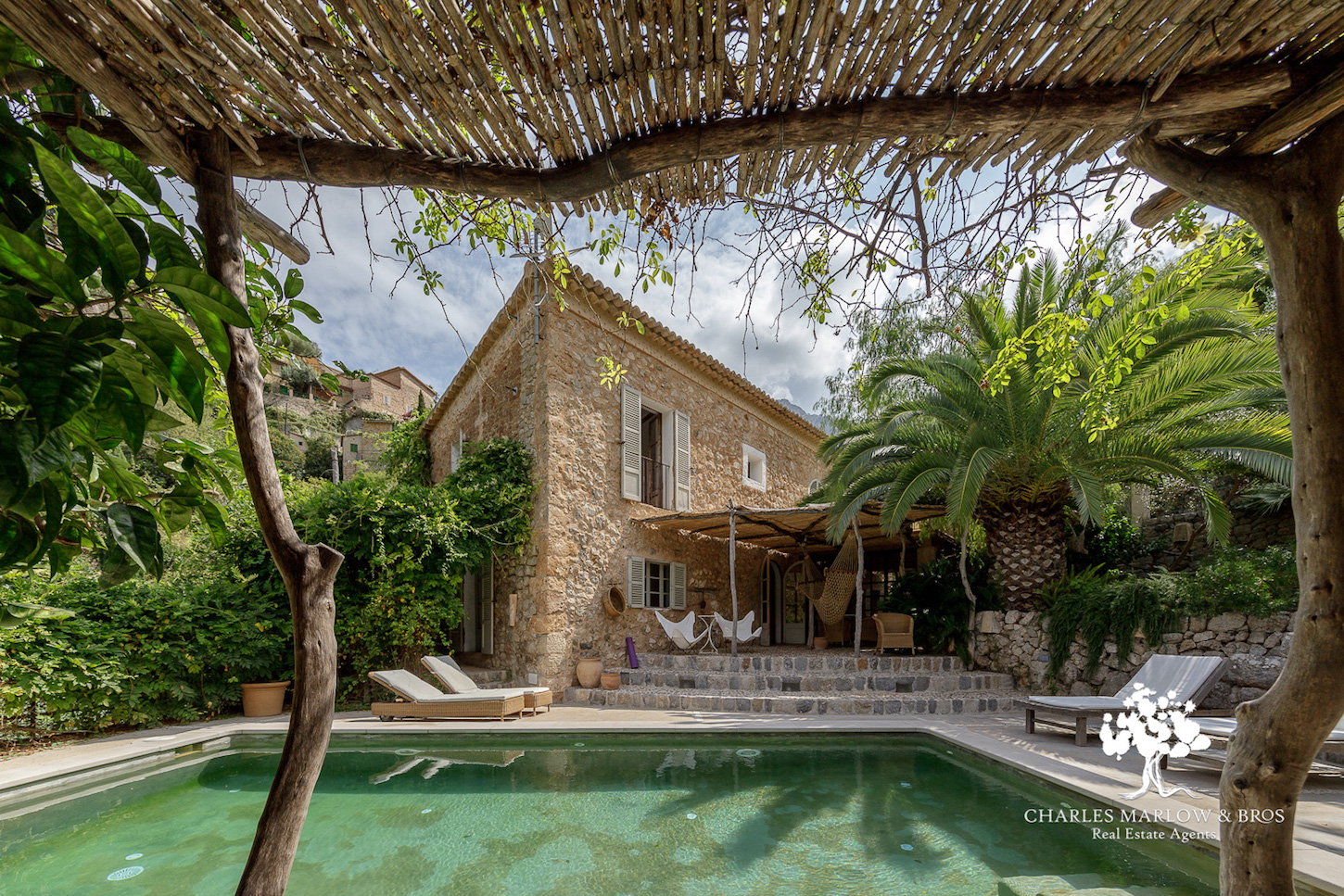 Characterful and charming town house in Deia with a pool.