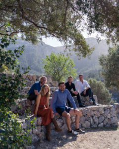 The Charles Marlow team together in Deia in early March 2020.
