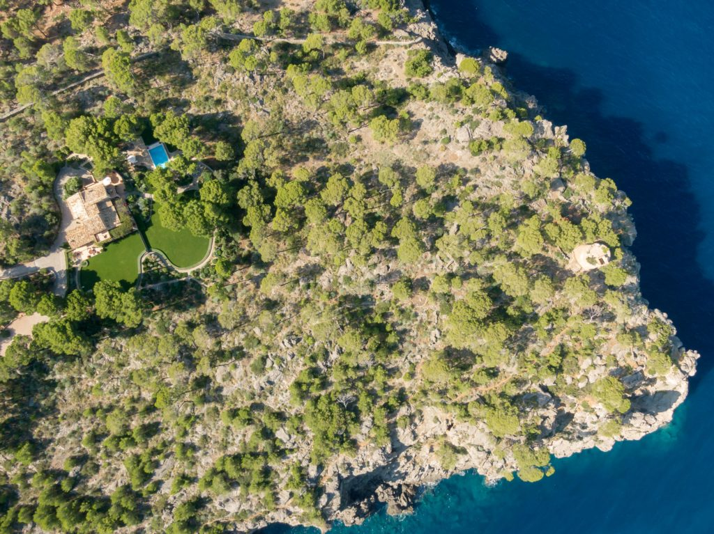 Rental villa La Sirena from above